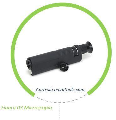 Microscopio óptico para inspección y limpieza